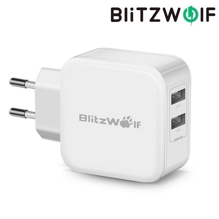 Зарядное устройство BlitzWolf BW-S2 24W 2 USB