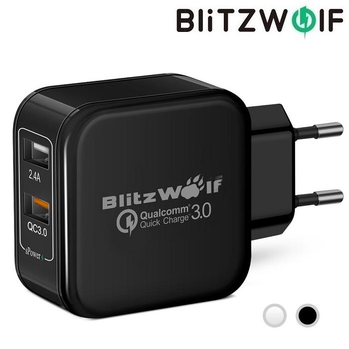 Зарядное устройство BlitzWolf BW-S6 30W 2 USB