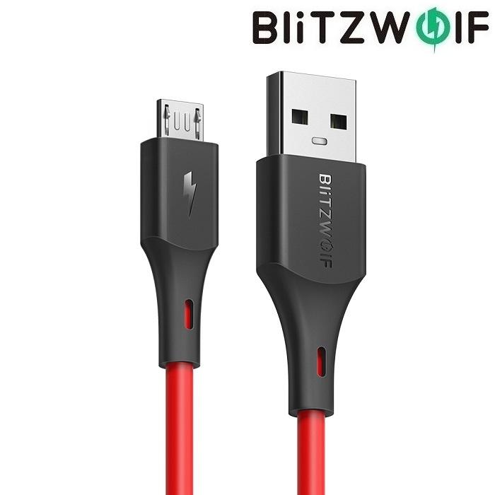 Кабель BlitzWolf USB microUSB BW-MC12 0.3 м