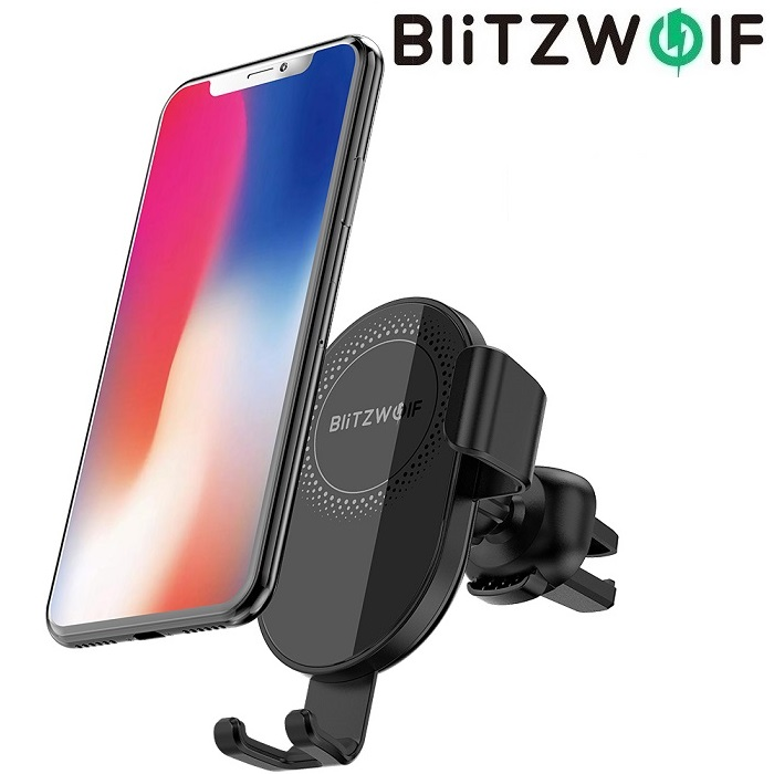 Автодержатель BlitzWolf BW-CW1 Qi Wireless